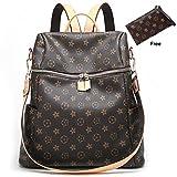 ZUNIYAMAMA Casual Purse Fashion School Leather Backpack Crossbady Shoulder Bag Mini Backpack for Women & Teenage Girls Waterproof Handbag Brown