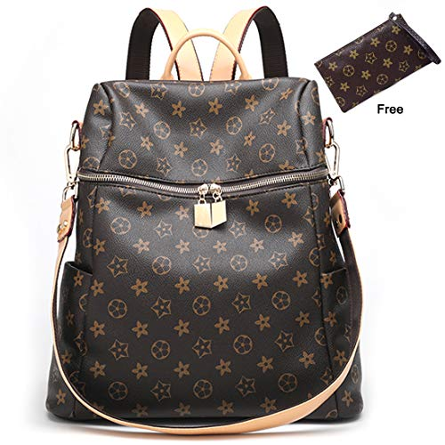 ZUNIYAMAMA Casual Purse Fashion School Leather Backpack Crossbady Shoulder Bag Mini Backpack for Women & Teenage Girls Waterproof Handbag Brown by ZUNIYAMAMA