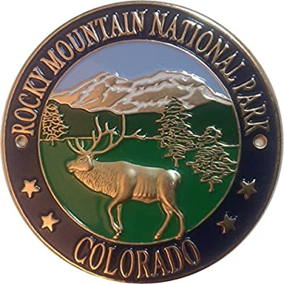Rocky Mountain National Park CO walking Hiking Medallion NEW Goes On Staff