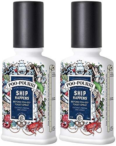 Poo-Pourri Before You Go Spray, Ship Happens, 4 oz, 2 Pack (Happens Ship)
