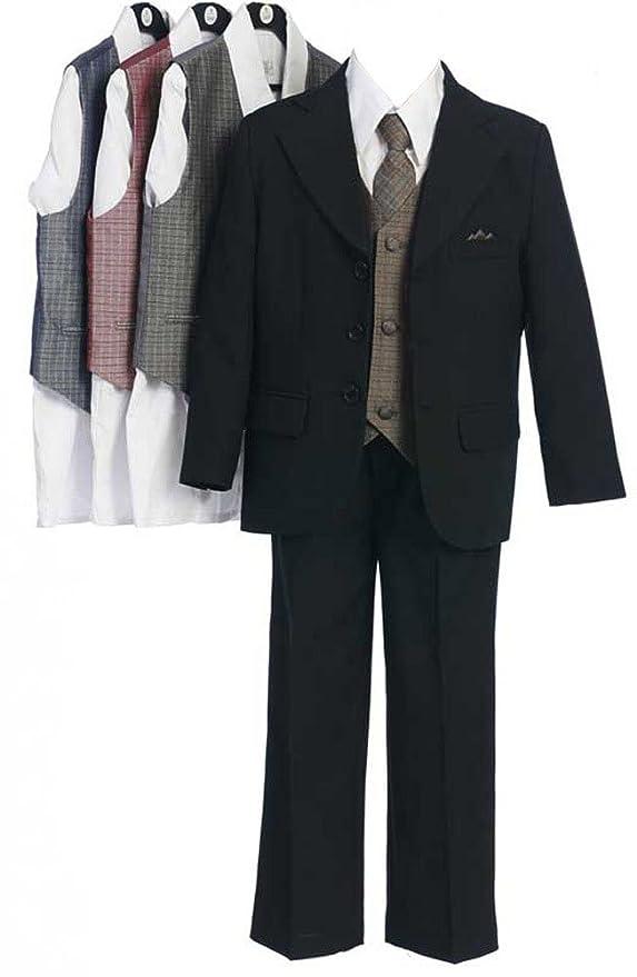 Amazon.com: Sweet Kids Boys 3 Button Black Suit 2T Black ...