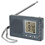 Bingxue Portable AM/FM Radio Alarm Clock, Built-in Speaker,Headphone Jack 12/24H Time Display 2