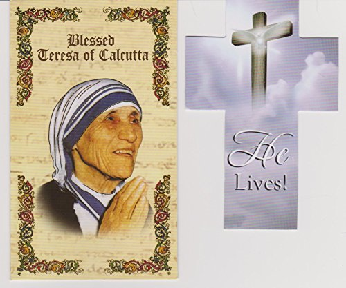 Mother Teressa of Calcutta Prayer Folder with Cross Bookmark (Prayer Folder)
