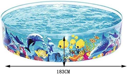 Family Swimming Pool Round Hard Plastic Pool//Childrens Paddling Pool Marine Ball Pool Fish Pond 1.83X38cm
