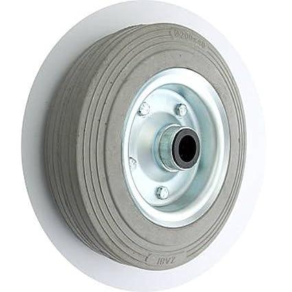 Rad (Code:60NN/25) mit Vollgummireifen Ø 200mm Gummiräder Gummirad Industrierad (60NN/25/Ø200/BR25/schwarz) zscale