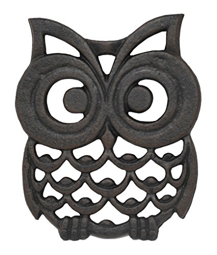 Cast Iron Owl Trivet. Makes a Perfect Owl Gift - by Home-X by Home-X