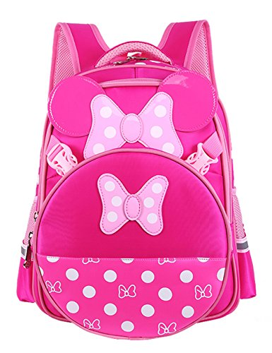Unisexs Travel Bag Backpack Polyester Outdoor Backpack (Rose red) - 4