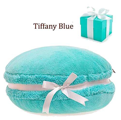 dream-higher Macaron Shape Plush Cushion Round Cake Pillow Sofa Decoration Home Decor Wedding Cushion Christmas Birthday Gift 1pc,Tiffany Blue