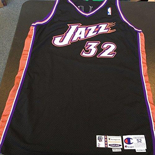(Rare 1999-2000 Karl Malone Utah Jazz Game Used Jersey With Certificate COA - NBA Game Used Jerseys)