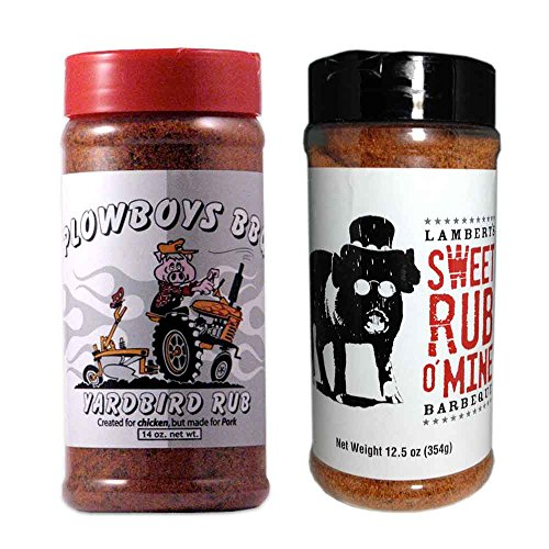 Championship BBQ Rub Bundle (Plowboys Yardbird 14 Ounce and Lamberts Sweet Rub o' Mine 12.5 - Bbq Sauce Best Brand