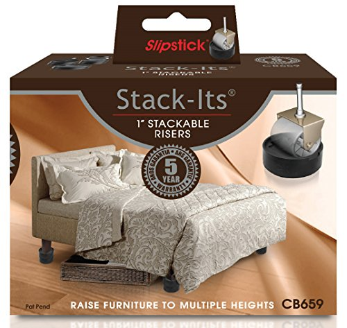 Slipstick CB659 Adjustable Bed Risers for Desks, Tables, and