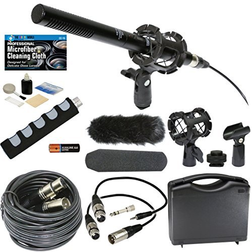 Microphone and Accessories Bundle for Canon VIXIA HF R800 R7