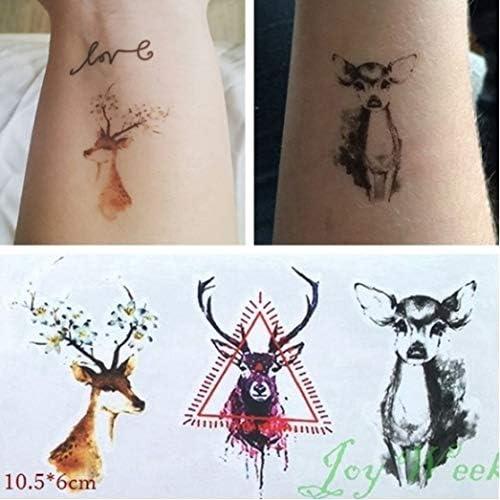 ljmljm 5pcs Tatuaje Impermeable Bucks de la Etiqueta engomada de ...