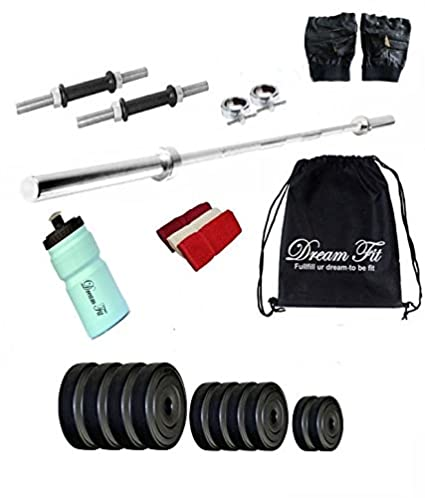 7ba7043b7f DREAMFIT 20 KG Home Gym with 3FT Straight Rod and Sipper Water Bottle