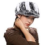 MINGXINTECH womens fashion real rabbit fur empty top hat warm winter round headband