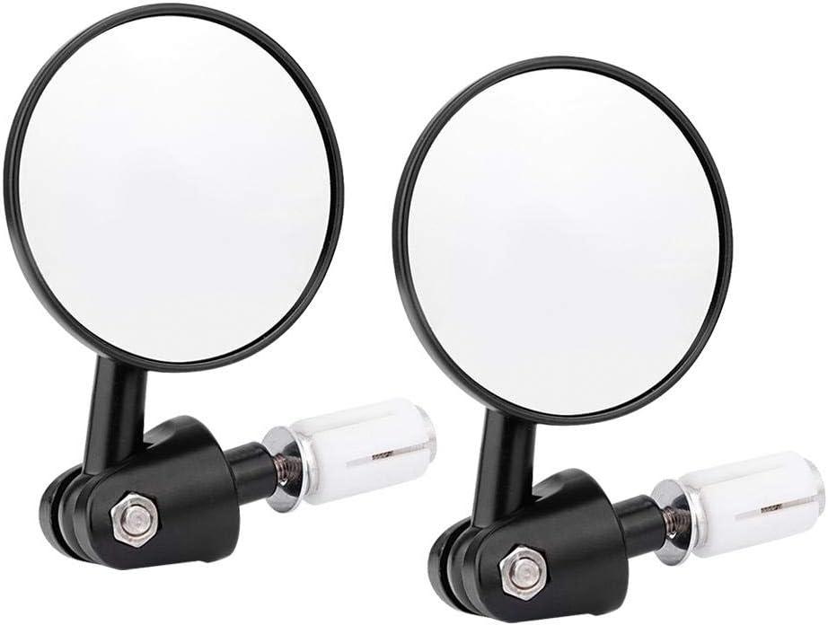 Qii lu Specchio retrovisore moto specchietto retrovisore manubrio pieghevole modificato moto 2 pezzi specchietti retrovisori 22mm