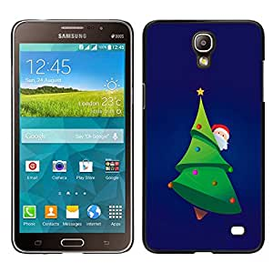 Impact Case Cover with Art Pattern Designs FOR Samsung Galaxy Mega 2 Christmas Tree Picea Santa Green Beard Hat Betty shop