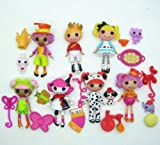 7 pcs . lot Mini Lalaloopsy doll Alice in Wonderland Prince beautiful children animation girl toys
