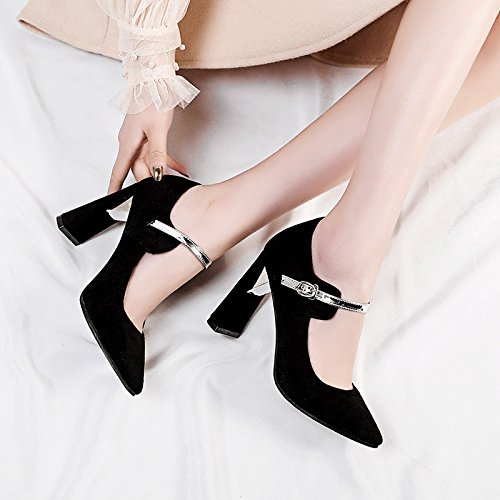 donne singola black Moda codice suggerimento luce calzatura di Primavera luce il alto tacco dimensioni nZqYwPHx4Z