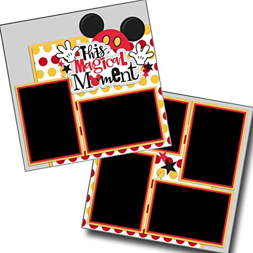 (This Magical Moment RED - Premade Scrapbook Pages - EZ Layout)