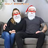 Women Men Holiday Santa Beard Face_Mask Christmas