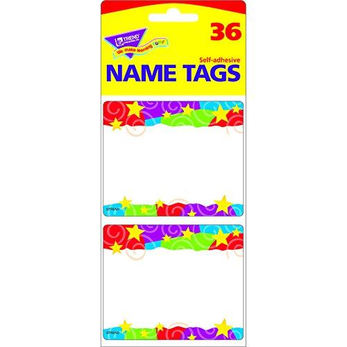 TREND ENTERPRISES INC. STARS N SWIRLS NAME TAGS (Set of 24)