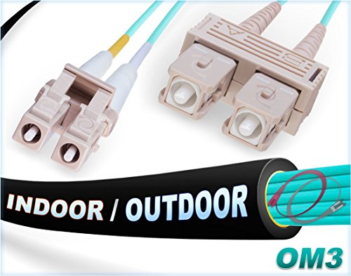 - FiberCablesDirect - 1M OM3 LC SC Fiber Patch Cable | Indoor/Outdoor 10Gb Duplex 50/125 LC to SC Multimode Jumper 1 Meter (3.28ft) | Length Options: 0.5M-300M | 1/10/40/100g sfp+ 10gbase ofnr lc-sc