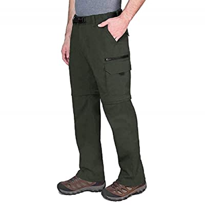 BC Clothing Mens Convertible Lightweight Comfort Stretch Cargo Pants Shorts (Olive, XXLx30): Clothing