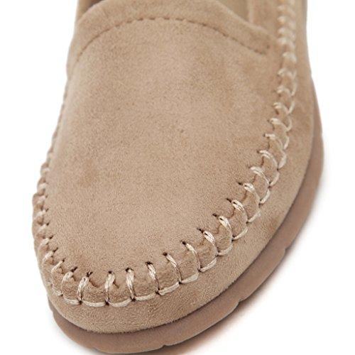 Bean Jds Chaussures Femme En Blanc Daim Cassé Mocassins Doux Fortuning's Cuir fq0HYdfx