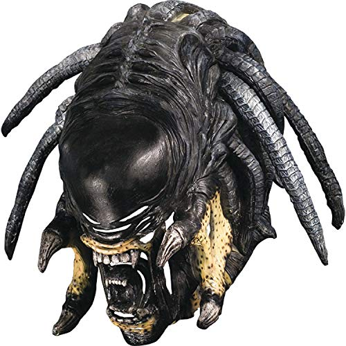Fun Express - PreD-Alien Hybrid Deluxe Mask for Halloween - Apparel Accessories - Costume Accessories - Masks - Halloween - 1 Piece