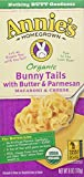 Annie's Organic Bunny Tails Cheese with Butter/Parmesan, 6 Ounce (Pack of 12)