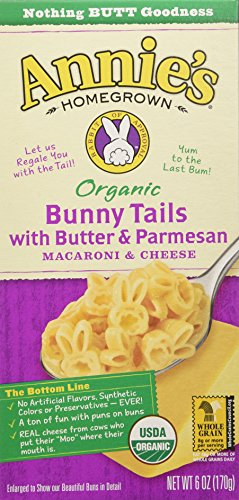 Annie's Organic Bunny Tails Cheese with Butter/Parmesan, 6 Ounce (Pack of 12) by Annie's Homegrown