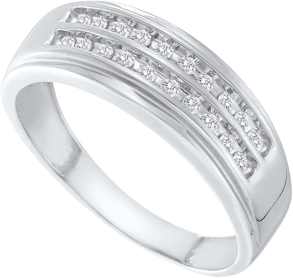 0.25CTW DIAMOND FASHION MENS BAND Available Sizes 5 to 11