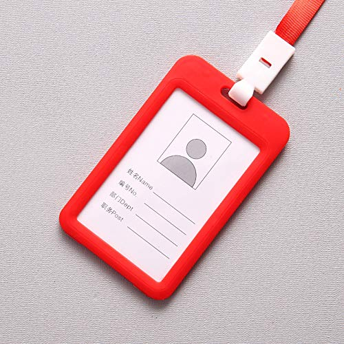 Loune Week Etya Bank Credit Card Holders Bus Id Name Holder for Student Card Cover Case Women Men Badge Wholesale Dropshipping Red ()