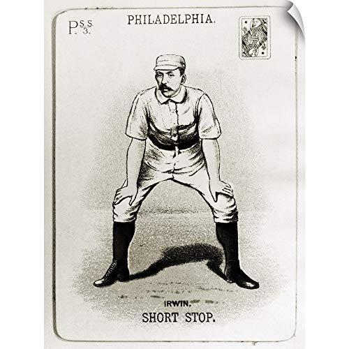 (CANVAS ON DEMAND Arthur Irwin Baseball Card from The 1888 Season of The Philadelphia Phillies Wall Peel Art Prin.)