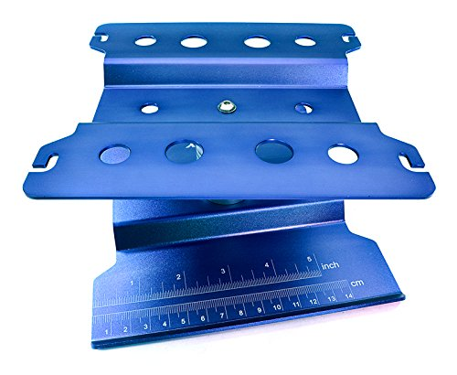 Integy RC Model Hop-ups C27024BLUE Universal Car Stand Workstation for 1/8 Size (167x162x110mm)