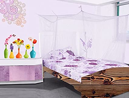 Buy Aarushi Cotton Mosquito Net For Single Bed White Online At Low