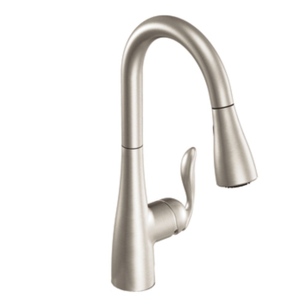 Moen 7594SRS Arbor One-Handle Pulldown Kitchen Faucet Featuring Power Boost and Reflex, Spot Resist Stainless by Moen