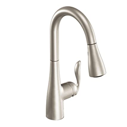 moen 7594srs arbor one handle high arc pulldown kitchen faucet rh amazon com