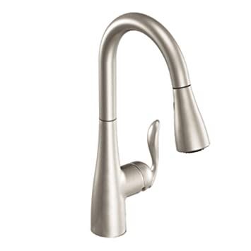 stainless edwyn kitchen faucet products one resist handle moen pulldown spot