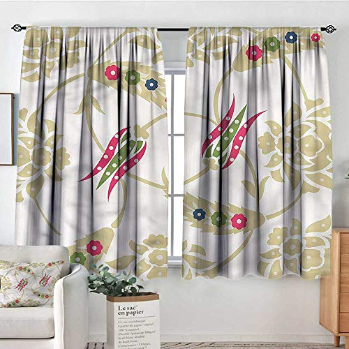 - Tulip,Bocking Ight Rod Curtains Bohemian Eastern Arrangement 42