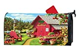 Little Farm Cottage Autumn Apple Customized Magnetic Mailbox Cover Home Garden Cute MailBox Wraps Vinyl with Full-surface Magnet On Back