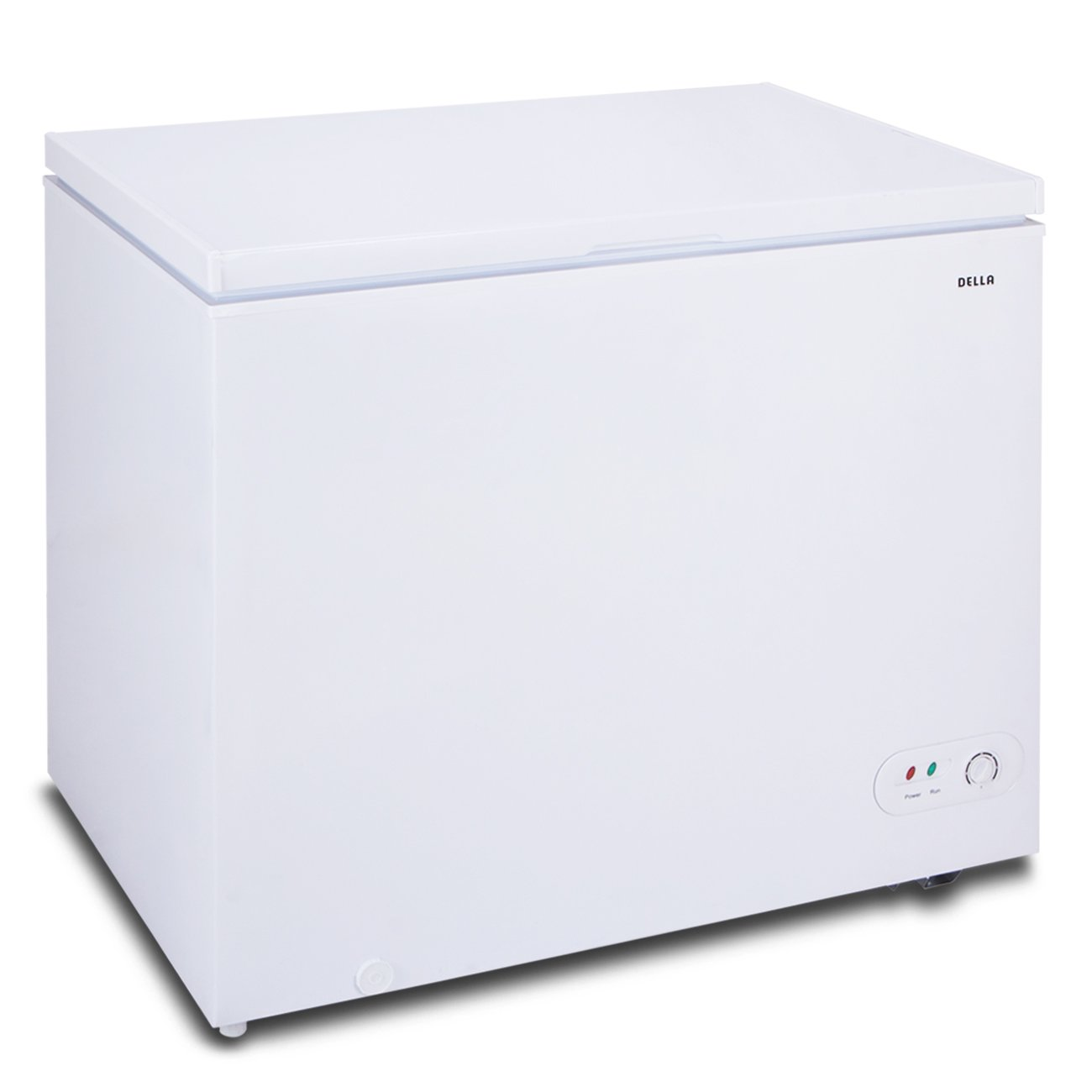 Della Upright Chest Freezer, 6.9 Cubic Feet, Adjustable thermostat, White