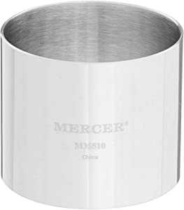 Mercer Culinary Steel Ring Mold Chef, 2 Inch x 1.75 Inch, Stainless