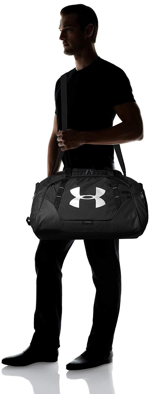 Under Armour Undeniable Duffle 3.0 Gym Bag, Black (001)/Silver, One Size Fits All by Under Armour