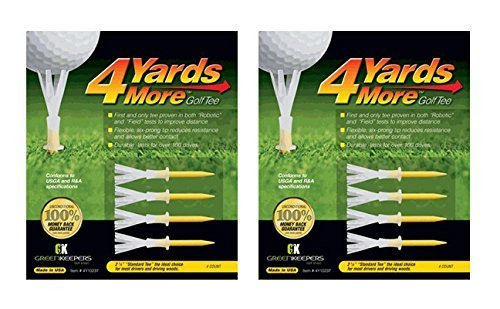 4 Yards More Golf Tee 4-pack Standard 2 3/4'' (2 Count) by Greenkeepers (Image #1)