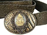 Whimsical Originals Other Side Dead Hand Cameo Buckle Bronze Belt Size: 36