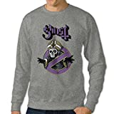 101Dog Ghost With The Band's Logo Mens Pullover Sweatshirt Ash