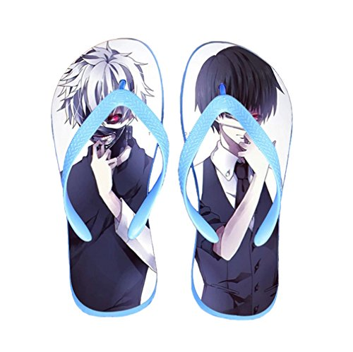 Bromeo Tokyo Ghoul Anime Unisex Flip Flops Chanclas 37