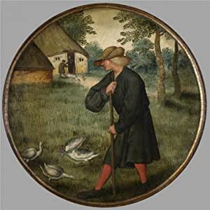 The Polyster Canvas Of Oil Painting 'Pieter Brueghel II,Who Knows Why Geese Walk Barefoot,1564-1636' ,size: 16x16 Inch / 41x41 Cm ,this Imitations Art DecorativePrints On Canvas Is Fit For Study Decoration And Home Decor And Gifts